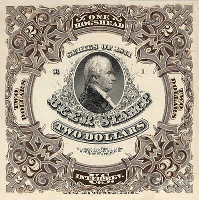 Hamilton Beer Revenue Stamp  Hogshead  Poster