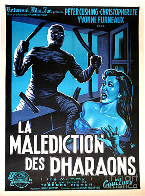 Hammer Movie Poster The Mummy La Malediction Des Pharaons Poster by R Muirhead Art