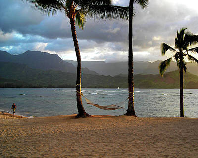 Hammock At Hanalei Bay Poster