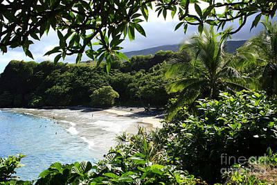 Hamoa Beach Maui Hawaii Poster by Sharon Mau