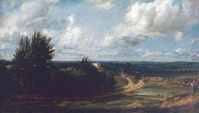 Hampstead Heath With The House Called Poster by John Constable