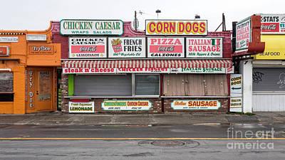 Hampton Beach Food Vendors Poster by Edward Fielding