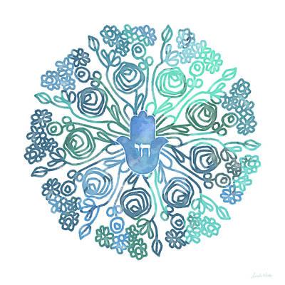 Hamsa Mandala 1- Art By Linda Woods Poster