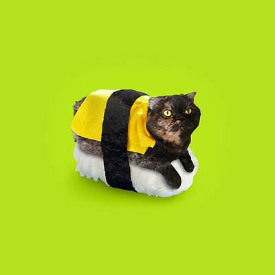 Hana Sushi Cat Poster