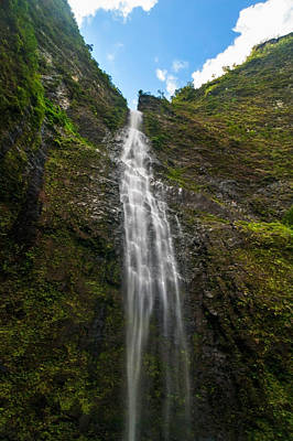 Hanakapiai Falls 2 - Kalalau Trail Kauai Hawaii Poster by Brian Harig