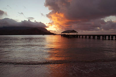 Hanalei Sunset Poster by Kelly Wade