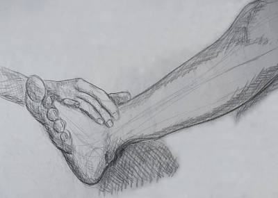 Hand And Leg Sketch Poster by M Valeriano