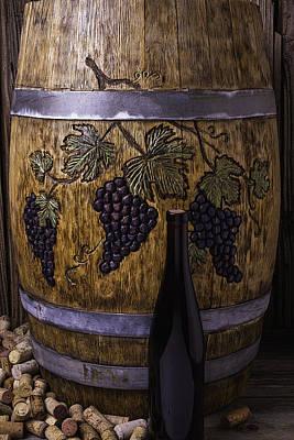 Hand Carved Wine Barrel Poster