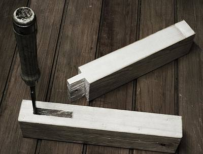 Handmade Mortise And Tenon Poster by Jean-Pierre Heijmann