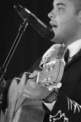 Handsome Mariachi Guitar Player  Poster