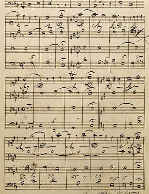 Handwritten Score Poster by Edvard Grieg