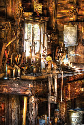 Handyman - Messy Workbench Poster