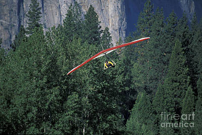 Hang Glider In Yosemite Poster by Stan and Anne Foster