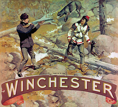 Poster featuring the painting Hang On To Them by Fredrick Remington