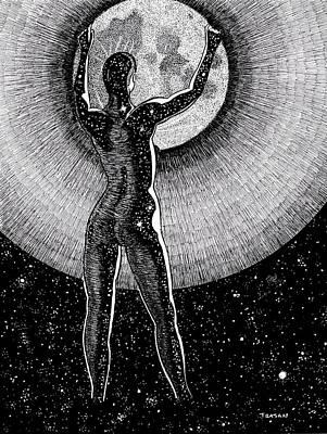 Hang The Moon Poster by Trajan