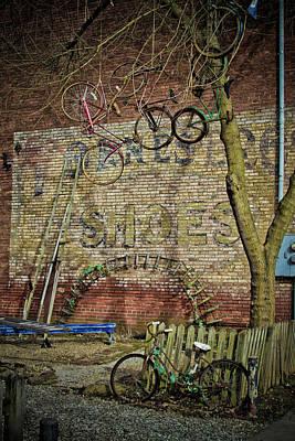 Hanging Bikes Poster