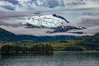 Hanging Glacier Poster by Rick Berk
