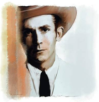 Poster featuring the painting Hank Williams Faiths Fire by Iconic Images Art Gallery David Pucciarelli