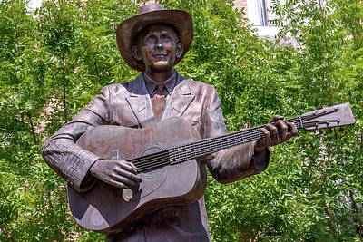 Hank Williams Statue - Cropped Poster