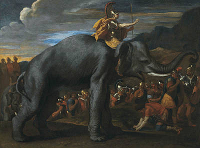Hannibal Crossing The Alps On Elephants Poster