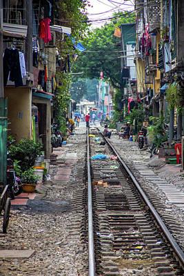 Hanoi Railway Poster by Peteris Vaivars