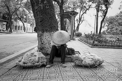 Poster featuring the photograph Hanoi Street Vendor by Dean Harte