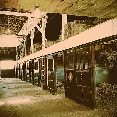 Hanover Shoe Farm Broodmare Stables Poster by Paul Kercher