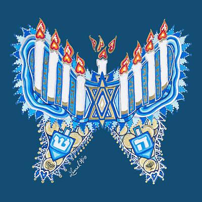 Hanukkah Butterfly Poster
