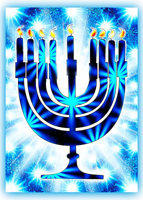 Hanukkah Greeting Card Ix Poster by Aurelio Zucco