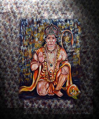 Hanuman - Super Hero - Self Less Devotion Poster by Harsh Malik