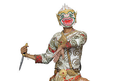 Hanuman Mask In Thai Classical Style Of Ramayana Story Poster