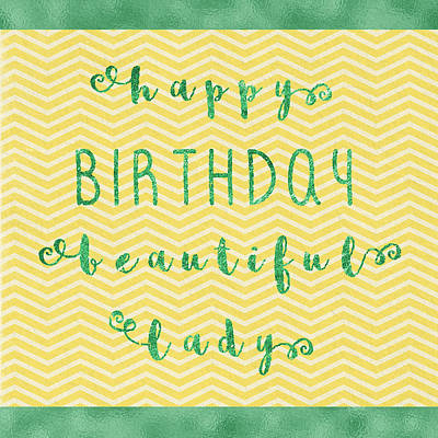 Happy Birthday Beeautiful Lady Poster