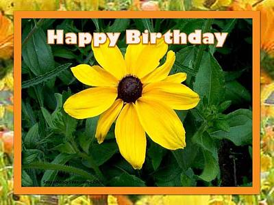 Poster featuring the photograph Happy Birthday Card by Sonya Nancy Capling-Bacle