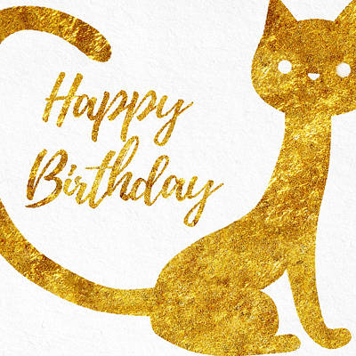 Happy Birthday For Cat Lovers Poster