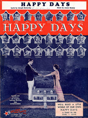 Happy Days Poster by Mel Thompson