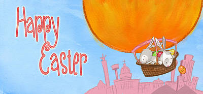 Happy Easter Balloon Poster