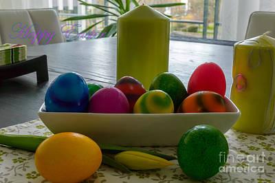 Happy Easter Eggs Poster by Sinisa CIGLENECKI
