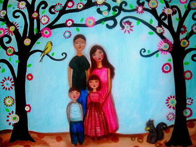Happy Family Poster by Pristine Cartera Turkus