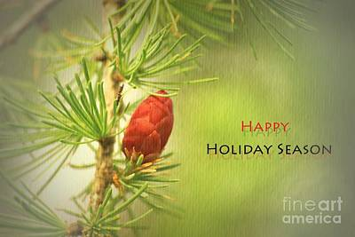 Happy Holiday Season Card Poster by Aimelle