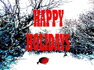 Happy Holidays 23 Poster by Patrick J Murphy