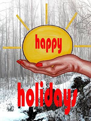 Happy Holidays 26 Poster by Patrick J Murphy