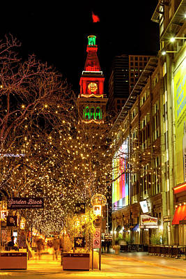 Happy Holidays Denver Co Poster by Teri Virbickis