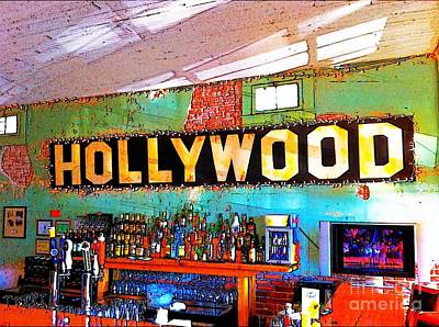 Poster featuring the photograph Happy Hour At The Hollywood Cafe by T Lowry Wilson