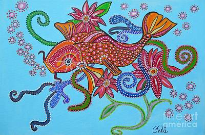 happy Koi Poster by Claudia Tuli