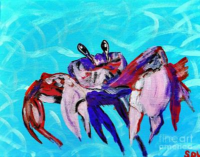Happy Little Crab  Poster by Scott D Van Osdol