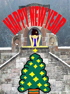 Happy New Year 12 Poster by Patrick J Murphy