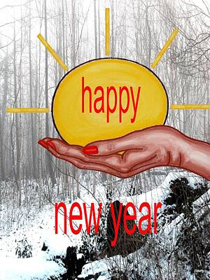 Happy New Year 22 Poster by Patrick J Murphy