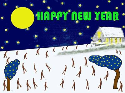 Happy New Year 79 Poster by Patrick J Murphy