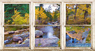 Happy Place Picture Window Frame Photo Fine Art Poster
