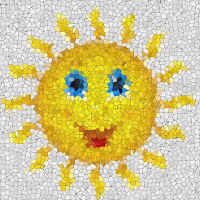 Happy Sun Glass Mosaic Poster by Miroslav Nemecek